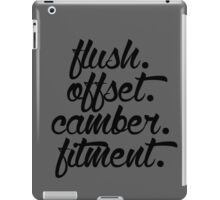 flush offset camber fitment (3) iPad Case/Skin