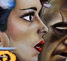 Frankenstein & His Bride In The Car Sticker