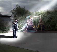 Suburban close encounter by David  Hibberd