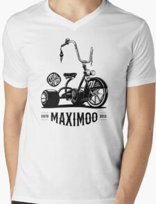 Pedal Power [Black Mono] Mens V-Neck T-Shirt