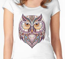 ethnic owl Women's Fitted Scoop T-Shirt