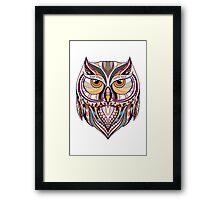 ethnic owl Framed Print