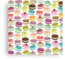 Cute French Macarons Canvas Print