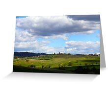 All About Italy. Tuscany Landscape 1 Greeting Card
