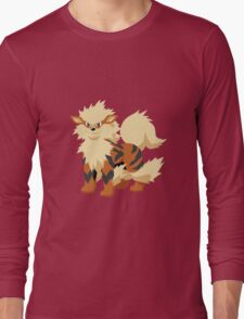 Arcanine Pokemon Simple No Borders Long Sleeve T-Shirt