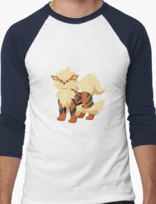 Arcanine Pokemon Simple No Borders Men's Baseball ¾ T-Shirt