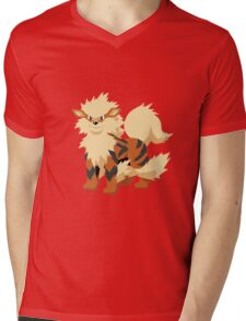 Arcanine Pokemon Simple No Borders Mens V-Neck T-Shirt