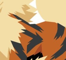 Arcanine Pokemon Simple No Borders Sticker
