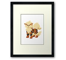 Arcanine Pokemon Simple No Borders Framed Print