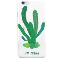 I'm trying iPhone Case/Skin