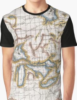 Vintage Map of The Great Lakes & Canada (1780) Graphic T-Shirt