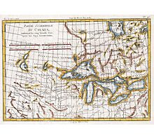 Vintage Map of The Great Lakes & Canada (1780) Photographic Print