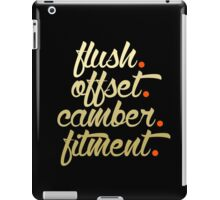 flush offset camber fitment (6) iPad Case/Skin