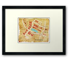 Alexandria Scout Report Map Framed Print