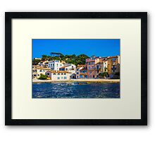 The Golden hour over Saint Tropez, The French Riviera Framed Print
