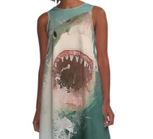 Great White Shark Breach A-Line Dress