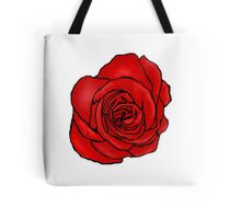 Open Red Rose Tote Bag