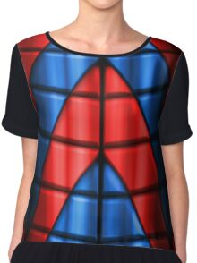 Superheroes - Red and Blue Chiffon Top