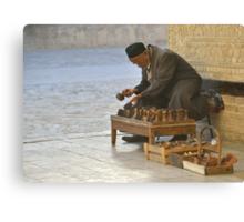 Stamp Seller - Bukhara, Uzbekistan Canvas Print
