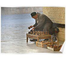 Stamp Seller - Bukhara, Uzbekistan Poster