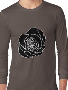 Open Black Rose Long Sleeve T-Shirt