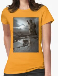 Global Warning - Statue of Liberty Womens Fitted T-Shirt