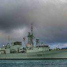 Canadian War ship, Leaving Hamilton Bermuda.. by buddybetsy