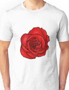 Open Red Rose Unisex T-Shirt