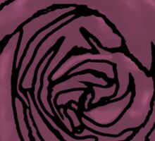 Dusky Pink Open Rose Sticker