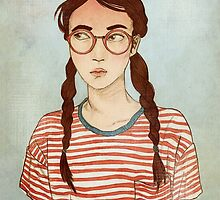 Stripes and Glasses by Clara Mendiola