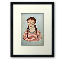 Stripes and Glasses Framed Print