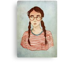 Stripes and Glasses Canvas Print