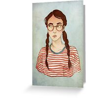 Stripes and Glasses Greeting Card