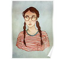 Stripes and Glasses Poster