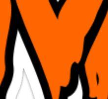 University of Virginia UVA Orange Drip Text Sticker