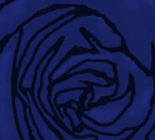Open Blue Rose Sticker