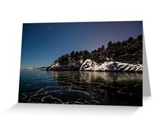Salt water does freeze in the winter Greeting Card