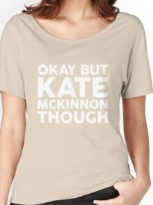 Kate McKinnon tho. (dark background) Women's Relaxed Fit T-Shirt
