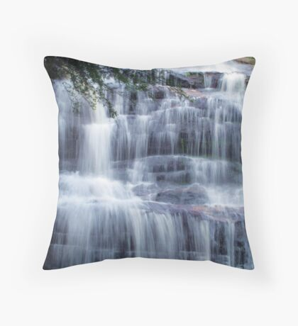 Waterfall Silk at Katoomba Cascades Throw Pillow