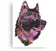 Space Husky Canvas Print