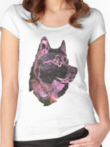 Space Husky Women's Fitted Scoop T-Shirt