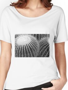 Cactus Spines in Black and White Women's Relaxed Fit T-Shirt