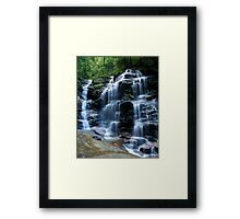 Sylvia Falls, Blue Mountains Framed Print