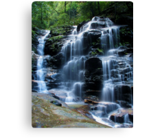 Sylvia Falls, Blue Mountains Canvas Print