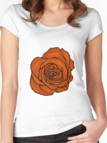 Open Orange Rose Women's Fitted Scoop T-Shirt