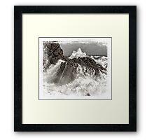 Splash over granite Framed Print