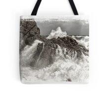 Splash over granite Tote Bag