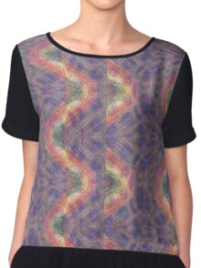 Wavy Trippy Psychedelic Abstract Design Chiffon Top