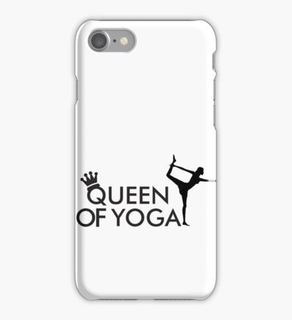 Queen of yoga iPhone Case/Skin