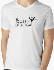 Queen of yoga Mens V-Neck T-Shirt